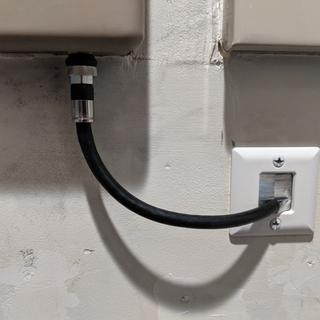 Perfect wall plate for this application and very easy to install