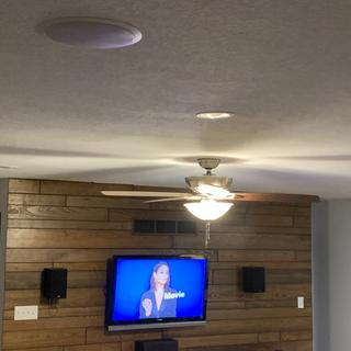 Using two as surround sound speakers, mounted in ceiling behind LR seating.  Work great!
