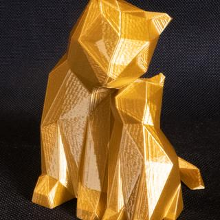 Sample Thingiverse Cats in China 3d Silky Gold