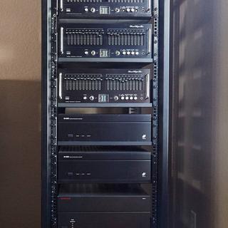 Media closet components.