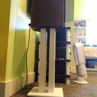 I painted them satin white.  Also painted the posts of the Monolith XL Stand
