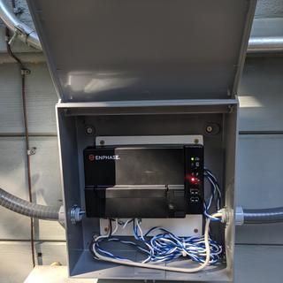 My solar monitor inside the box.