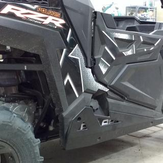 Polaris Lower Half Door on a 2017 RZR 900 TRAIL with Low Profile Rock-Sliders