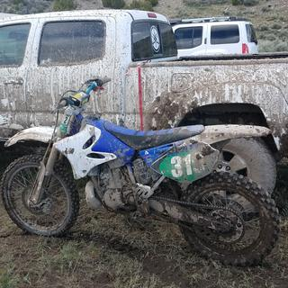 Stayed grippy in the rain and mud.