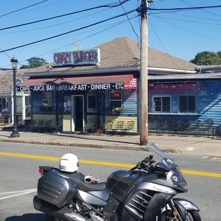 Lunch at Crazy burger in Narragansett R.I.