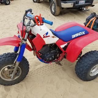 My honda 350x at Oceano Dunes