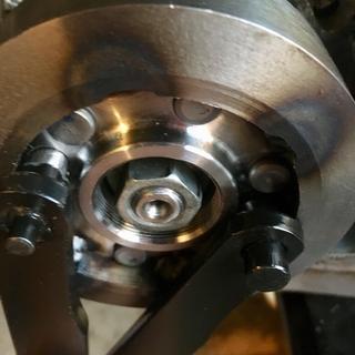 Tusk flywheel tool pins in GYTR flywheel holes