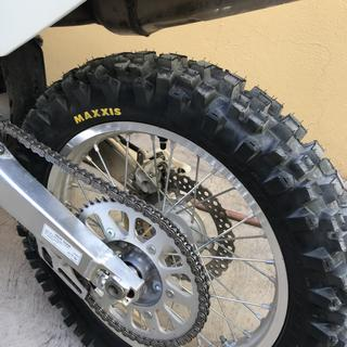 CRF250X Rear tire view