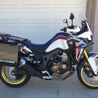 2017 Africa Twin small boxes pillion and top rack