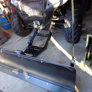 """Tusk 60"""" plow 570 RZR with Tusk markers & Tusk snow plow rope also custom line take-up & snow flap."""