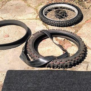 "18/"" Rear 21/"" Front JEC Products Tube Saddle Set Dirt Bike"