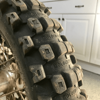 50hrs of amazing riding on this tire. 120/100 -18