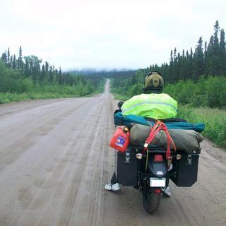 Tusk bags on KLR650 on Labrador trip