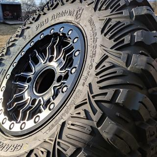 Mounted with 30x10x14 pro armor crawler xg tires