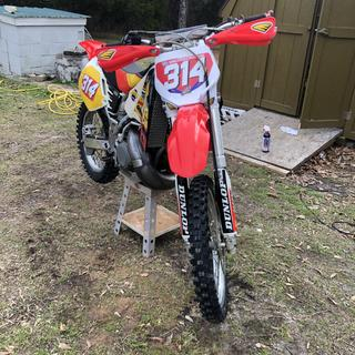 2008 front fender and stadium plate on a 1995 CR500AF better updated look