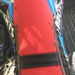 These spots appeared after seat got wet the first time.