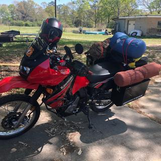 Moto-camping trip up the Natchez Trace.