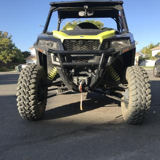 """14"""" front ground clearance w/tender springs"""