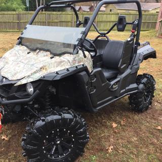 Yamaha 2016 Wolverine  14x7 M-20 Kore Wheels 30x8.5-14 inch Black Mamba Lite 3-1/2 High Lifter Kit