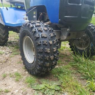 Great tire for the front of the mud mower