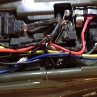 Under seat wiring for Tusk winch
