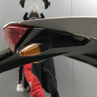 Mounted on tail light frame of a2013 Husqvarna te449.