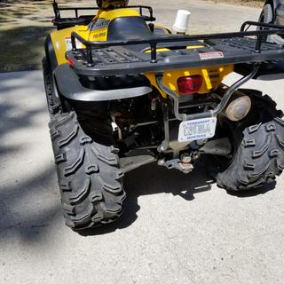 25x12.5x10 on 2000 Polaris Sportsman 500