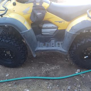 A buddy had them on his UTV and I had to get them for my ATV. Great traction on rock and loose dirt.