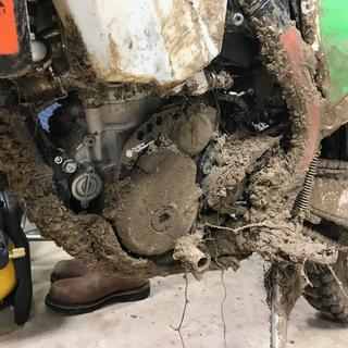 This is the problem with the Ktm front sprocket guard