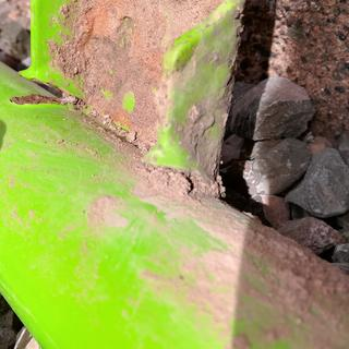 Good pic of the failed weld  on a mounting flange