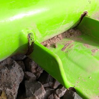 NOTICE that the green 'paint' goes almost completely under the weld,  POOR Quality control.