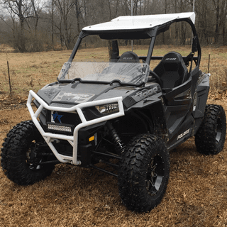 Tires and wheels mounted on the rzr