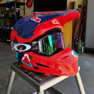 Red w/jade airbrake goggles
