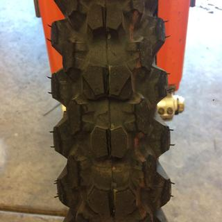 Front tire @ 350 miles (ridden 2up with 10 year on on the back so I was riding very easy)