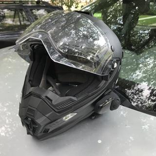 Helmet with unit on the side