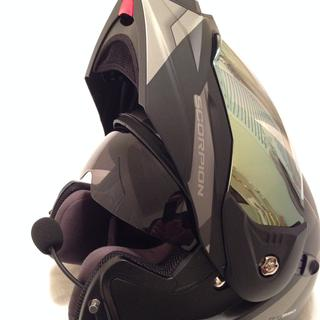 Tinted drop down visor is very handy and provides adequate coverage.