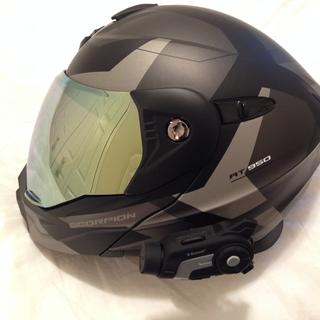 Good looking but very functional helmet. Gold face shield and Sena 10c added.