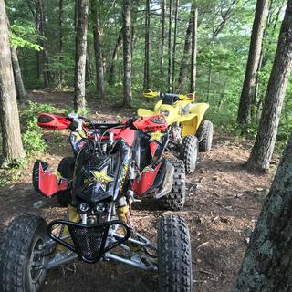 Trx 450er acerbis hand guards and 250ex acerbis hand guards