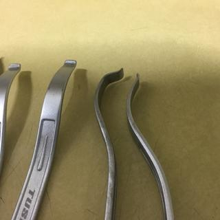 Bent iron second from right