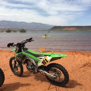 Vortex bars on my kx450F definitely felt good out in the desert of Utah!