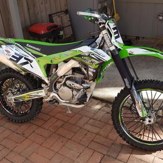 "2017 KX250F with Tusk Impact 18"" rim and spoke kit"