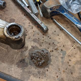 What the needle bearings look like went they go bad.