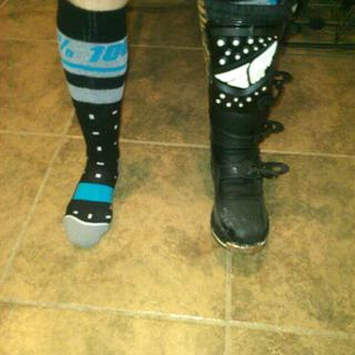 socks stay above top of boot.