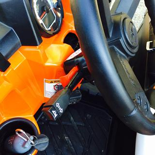 Ryco turn signal kit installed on a Polaris Ranger XP 900  Turn signal switch with integrated horn.