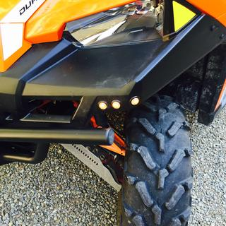 Ryco turn signal kit installed on a Polaris Ranger XP 900  Front turn signal/running light