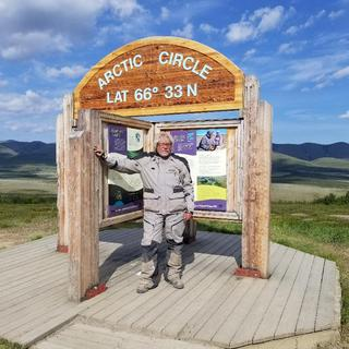 At the Arctic Circle on the Dempster Highway