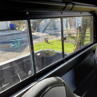 Rear window from inside