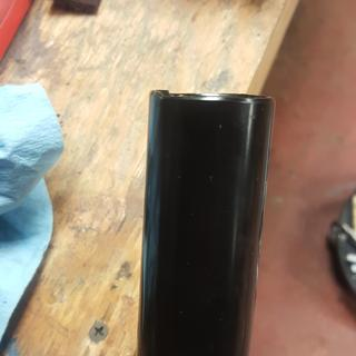 Notch on bearing end of tool