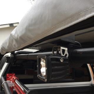 Rigid light and awning mount