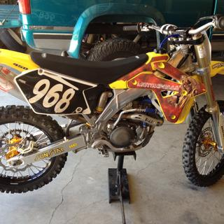 Tusk wheel set on 06 rmz450